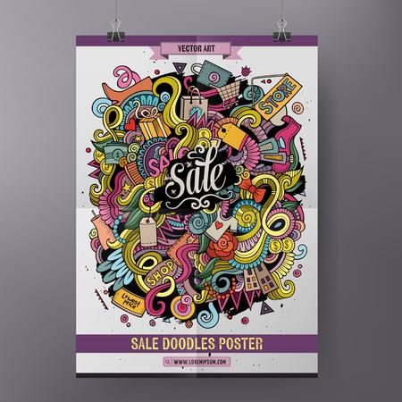 Cartoon doodles Sale poster
