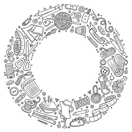 Illustration pour Set of handmade cartoon doodle objects, symbols and items. - image libre de droit