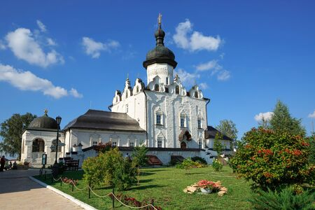 Assumption Cathedral of 16th century, located on the territory of the Assumption male monastery in the town of Sviyazhsk, Republic of Tatarstan, Russia.