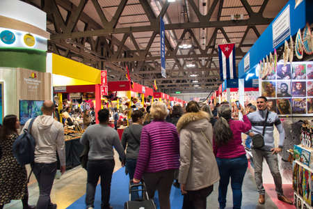 Photo pour Milano, Italy 12.01.2019: Artigiano in Fiera, a unique fair to buy, see, touch hand-crafted creations, try the best international cuisine from all over the world. Unique, original, the highest quality - image libre de droit