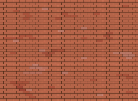 Illustration for Abstract brown and red brick wall background texture. Vector illustration. - Royalty Free Image
