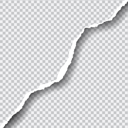 Illustration pour Realistic vector ripped paper with space for your text, isolated on transparent background. - image libre de droit