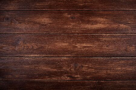 Photo pour Realistic wooden background or natural brown color table top. Old scuffed and scratched surface. - image libre de droit