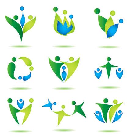Foto de happy family icons collection multicolored in simple figures - Imagen libre de derechos