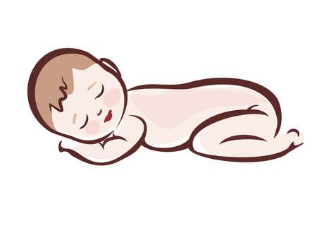 Illustration pour Baby sleeping - image libre de droit