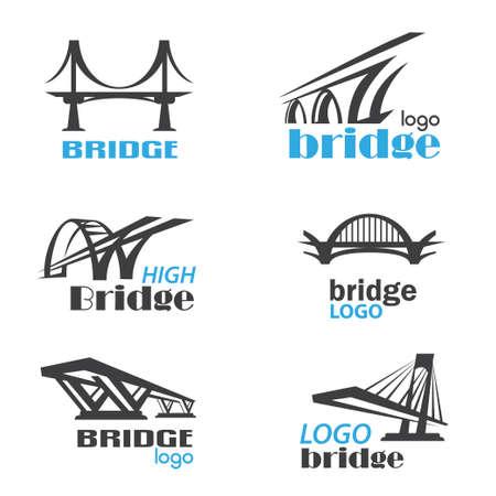 Ilustración de bridge symbol logo template collection - Imagen libre de derechos