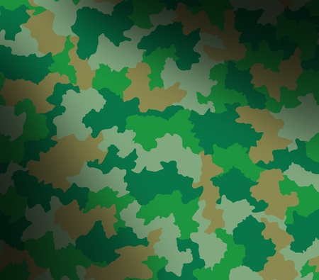 Green camouflage surface pattern lit diagonally