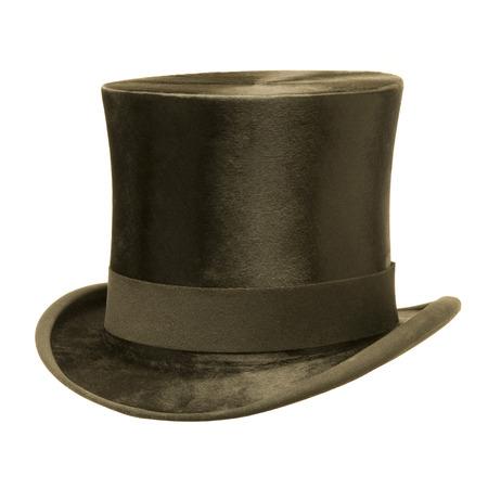 Foto de Black top hat isolated on white  - Imagen libre de derechos