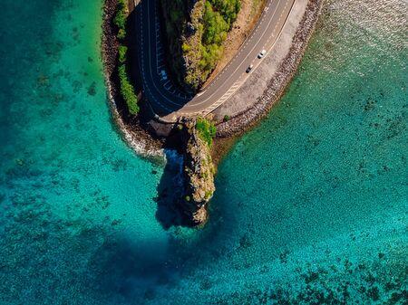 Photo pour Maconde Aerial View. Cape in Mauritius Island - image libre de droit