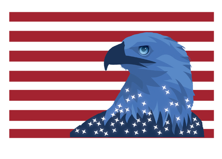 Patriotic Eagle Wallpaper Mural