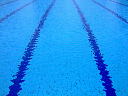 Trembling surface of an sports competition size swimming pool