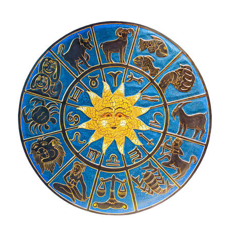 Zodiac with sun isolated