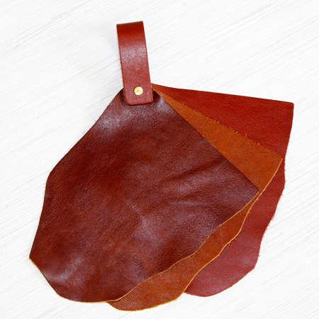 Genuine natural leather sampler for fashion industry