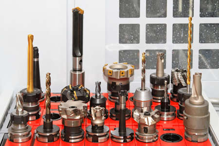 Collection of milling and drilling tools for CNC machine