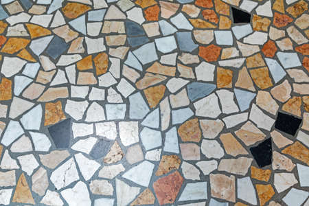 Photo for Colourful Broken Marble Pieces Floor Background - Royalty Free Image