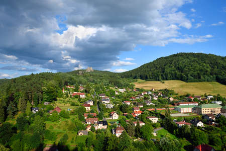 Small village of Mala Skala in Bohemian Paradise in the Czech Republic