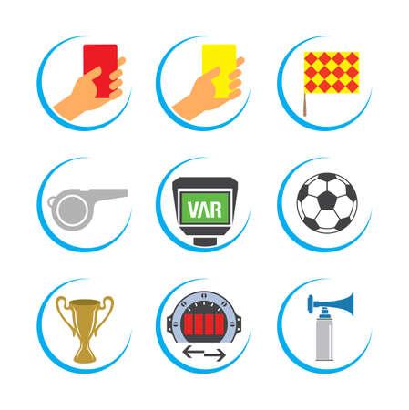 Soccer Icon Set, Football Icon Set, Soccer Vector Icon Set