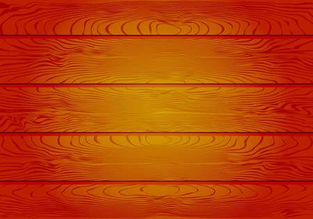Illustration pour Brown Wooden Planks Background Vector Illustration - image libre de droit