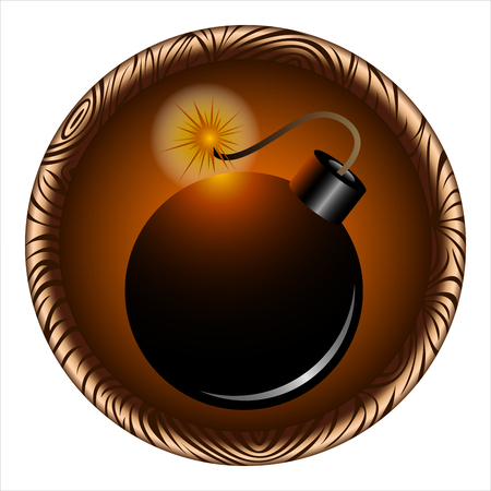 round icon for the game with a pirate bomb inside