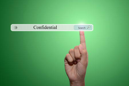 businessman pointing confidential concept