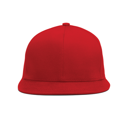 Photo pour A modern Snapback Front Cap MockUp In Flame Scarlet Color to help you present your hat designs beautifully. You can customize almost everything in this hat mockup to match your cap design. - image libre de droit