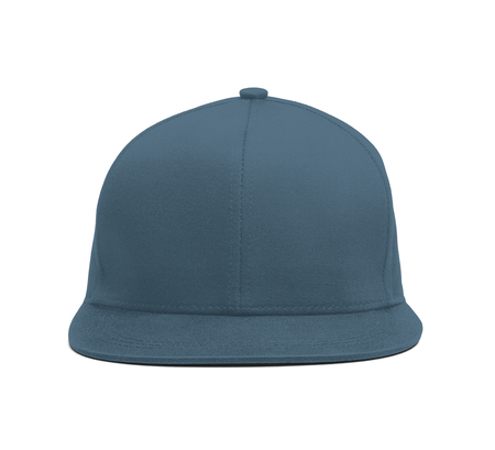 Photo pour A modern Snapback Front Cap MockUp In Blue Stone Color to help you present your hat designs beautifully. You can customize almost everything in this hat mockup to match your cap design. - image libre de droit