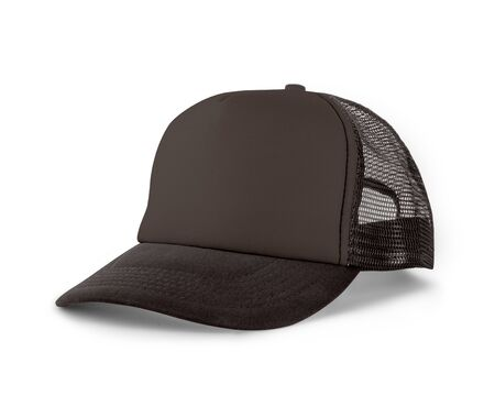 Photo for Side View Realistic Cap Mock Up In Rocky Granite Color is a high resolution hat mockup to help you present your designs or brand logo beautifully. - Royalty Free Image