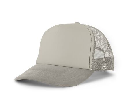 Photo pour Side View Realistic Cap Mock Up In White Tofu Color is a high resolution hat mockup to help you present your designs or brand logo beautifully. - image libre de droit