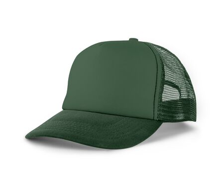 Photo pour Side View Realistic Cap Mock Up In Hybrid Comfrey Color is a high resolution hat mockup to help you present your designs or brand logo beautifully. - image libre de droit