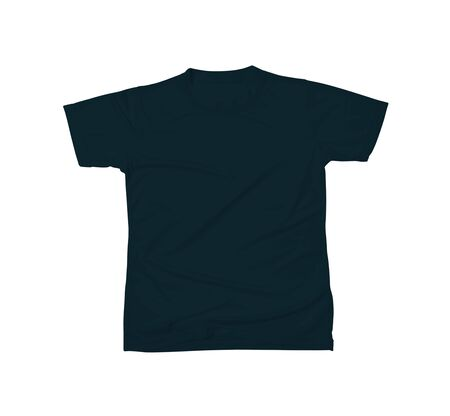 Photo pour Designable Tshirt Mockup In Royal Black Color to help you customize your brand logo or designs like a pro. - image libre de droit