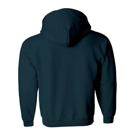 Photo pour Promote your hoodie design across with this Back View Zip Up Hoodie Mockup In Royal Black Color. - image libre de droit