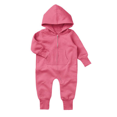 Foto de Give a professional touch to your design with this Front View Beautiful Baby Fleece Mock Up In Camellia Rose Color. - Imagen libre de derechos