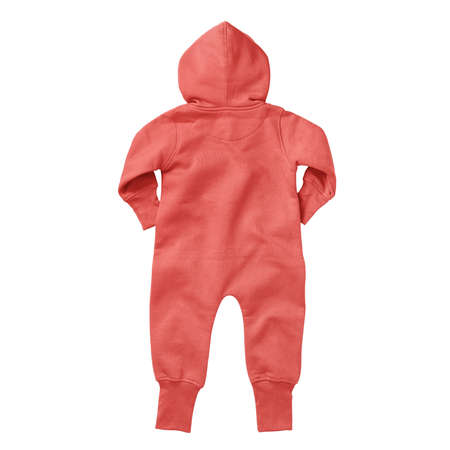 Foto de If you work on advanced, demanding designs and seek for realistic effects, this Back View Beautiful Baby Fleece Mock Up In Hot Coral Color will fulfill your needs. - Imagen libre de derechos