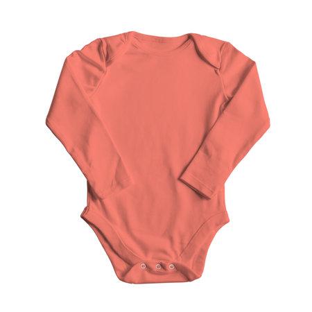 Foto de Use this Front View Sweet Baby Bodysuit Mockup In Fusion Coral Color, and your design becomes more realistic. - Imagen libre de derechos