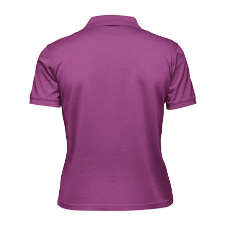 Photo pour This Back View Fabulous Women's Collar T Shirt Mockup In Radiant Orchid Color, will help you to apply your logo or brand design more quickly. - image libre de droit