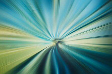 Photo for abstract speed zoom line patterned green blue tone color background - Royalty Free Image