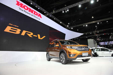 BANGKOK - December 1: Honda BR-V car on display at The Motor Expo 2015 on December 1, 2015 in Bangkok, Thailand.
