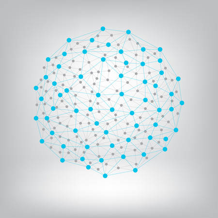 Dots with connections background.