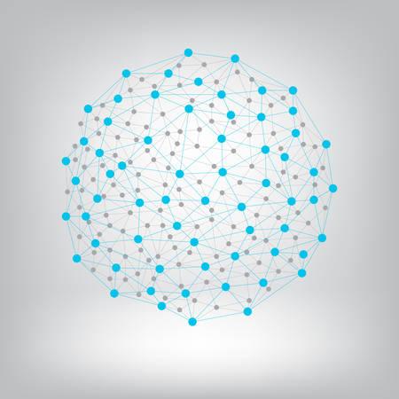 Illustration pour Dots with connections background. - image libre de droit