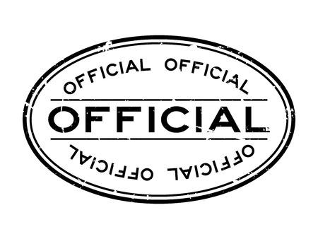 Illustration pour Grunge black official word oval rubber seal stamp on white background - image libre de droit