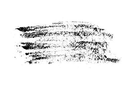 Illustration pour Set of grunge black chalk texture stripe brush on white background - image libre de droit