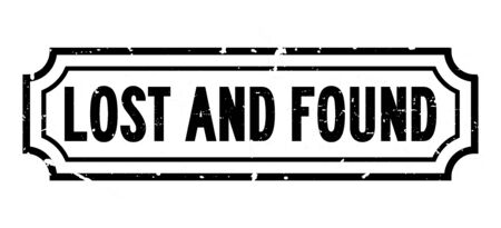 Illustration pour Grunge black lost and found word rubber business seal stamp on white background - image libre de droit
