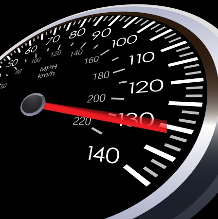 Illustration pour car speed meter  - image libre de droit