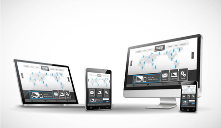 Illustration for Multiple Devices and Website - Royalty Free Image
