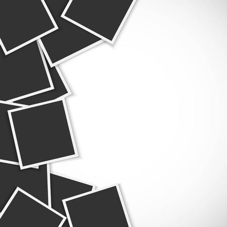 Illustration pour Pile of photo frames on white background - image libre de droit