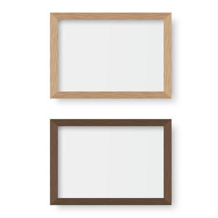Illustration pour Vector wooden picture frame - image libre de droit