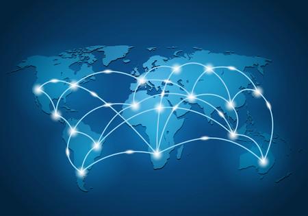 Illustration pour Global network connection background - image libre de droit