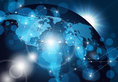 Ilustración de Global network connection. Vector illustration. - Imagen libre de derechos