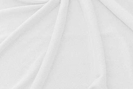 Photo pour White fabric texture background. Abstract wave canvas surface. - image libre de droit