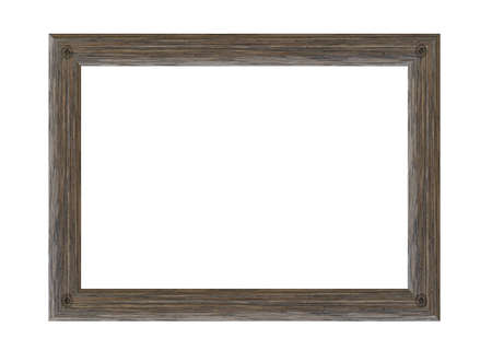 Photo pour Old wooden picture frame isolated on white background. - image libre de droit